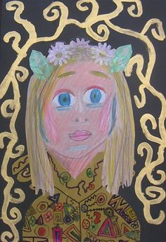 Klimt style portraits - grade 5
