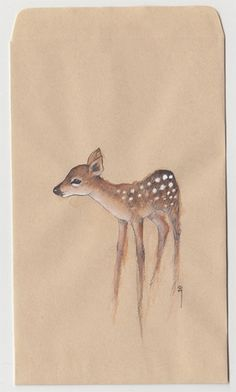 loveliness: Deer Envelope (via Eating ghosts)