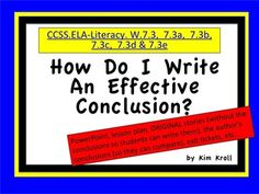 Check out the feedback!! Students learn to write a narrative conclusion. This product includes a Powerpoint, Lesson Plans, ORIGINAL Stories, and MORE! Included are original stories (without the conclusions so students can write them), the author's conclusions (so students can compare), exit tickets, etc. Essay Tips, Essay Writing Tips, Narrative Writing, Writing Resources, Teacher Resources, Teaching Ideas, Learning To Write, Student Learning, Essay Motivation