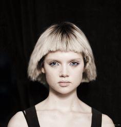 Edgy hair at Marc Jacobs S/S 2014 show / Garance Doré