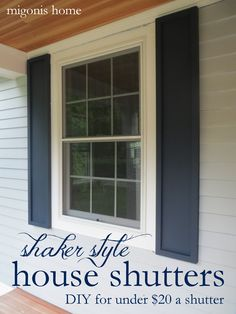 Great window trim and shutters to dress up the front of the house ...