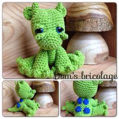Petit dragon Dragounet  Crochet