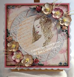 Design Team post today for #BeeCraftyStamps more details on my Blog x http://www.cardsbykerrie.blogspot.co.uk/2015/02/science-of-beauty-inspired-by-da-vinci.html