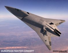 European sixth-generation concept fighter aircraft on Behance