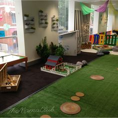 Indoor outdoor play area for babies at TheMamaClub