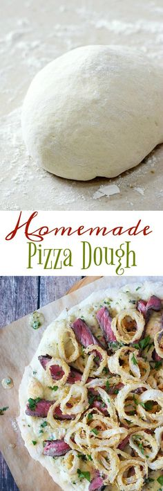 This Homemade Pizza Dough is super easy to make with a bread machine or stand mixer | http://cookingwithcurls.com