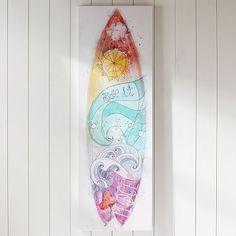 Holland's Room - Girls Surfboard Canvas Art #pbteen