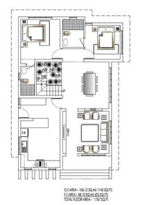 Low Cost House Plans, House Floor Plans, Duplex Plans, Low Cost Housing, Kerala House Design, Kerala Houses, Traditional Homes, Site Plans, House Elevation