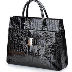 2e446408a4e New Women s Crocodile Pattern Fashion Handbag Lady s Official Casual Tote  Bag
