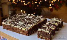 Prăjitura Chinezoaica sau chinezească cu cacao, nucă și glazură din gălbenușuri   Savori Urbane Creme Caramel, No Bake Cake, Nutella, Baking Recipes, Deserts, Health, Food, Cake Baking, Recipes