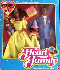 NEW ~ 1986 The Heart Family SURPRISE PARTY! SET (AA) #2512