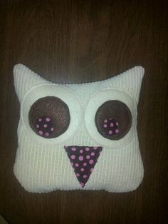Lacey Palumbo~This is a diy owl hot pack made from upcycled clothes, lavender grown in my garden, rice & oatmeal.
