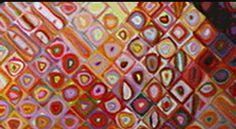 Chuck Close portrait art detail