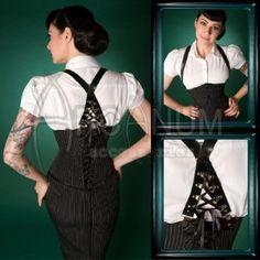 Corset braces/suspenders