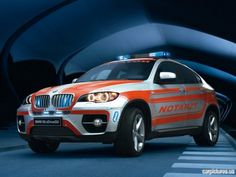 BMW X6 Ambulance  - i want to go to the hospital in one of these!