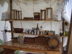Embarking on a Period Medieval Encampment: hanging shelves