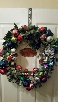 Christmas Holidays Door Wreath