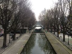 Canal in basin de la villette