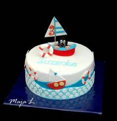 krtko námorník :-) Birthday Cake, Desserts, Food, Bakken, Tailgate Desserts, Deserts, Birthday Cakes, Essen, Postres