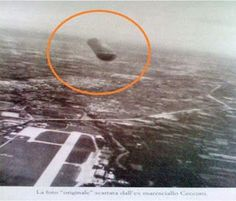 Military Pilot Photographs UFO over Italy 1979 Italian Air force Pilot Giancarlo Ceccino captures 26 ft cylindrical UFO in photograph while returning to Treviso airbase in Italy.