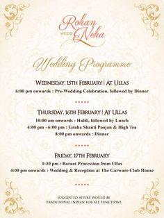 Indian Wedding Invitation Wording Template Puneet Indian Wedding
