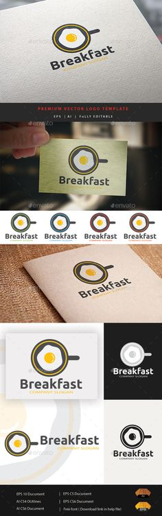 Breakfast Logo - Food Logo Templates Restaurant Branding, Logo Branding, Branding Design, Restaurant Restaurant, Food Logo Design, Logo Food, Egg Logo, Nature Green, Kitchen Logo