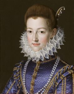 Portrait of Cristina di Lorena (Christine of Lorraine), Grand Duchess of Tuscany (1565-1637) – by Scipione Pulzone.