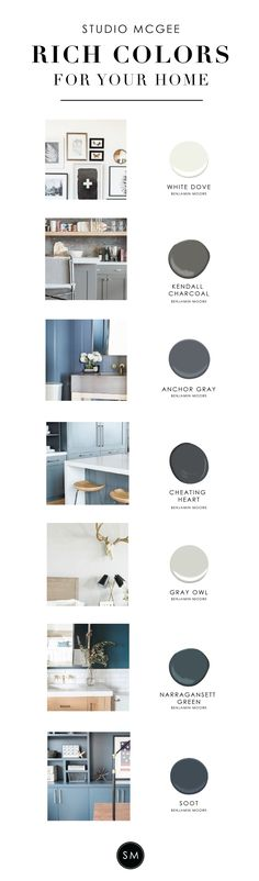 Rich paint colors for the home! - Studio McGee Blog