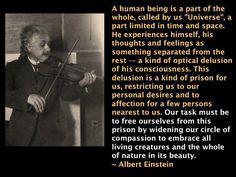 A Part of the Universe - Albert Einstein