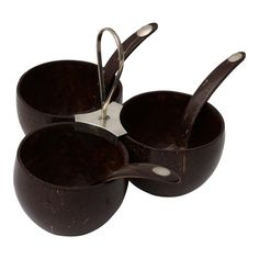 Shop serving bowls at Chairish, the design lover's marketplace for the best vintage and used furniture, decor and art. Coconut Shell Crafts, Earth Design, West Palm, Wooden Walls, Wood Crafts, Serving Bowls, Vintage Antiques, Shells, Eco Products