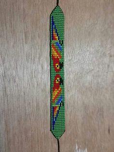 Bead Loom Bracelets, Bead Loom Patterns, Beading Projects, Stuffed Animal Patterns, Loom Beading, Bead Weaving, Fabric Flowers, Friendship Bracelets, Beaded Jewelry