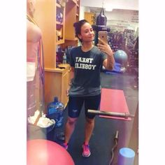 Demi at the gym