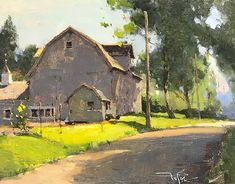 Staying cool in Shade (plein air) by Zufar Bikbov Oil ~ 8 x 10 Farm Paintings, Amazing Paintings, Classic Paintings, Small Paintings, Acrylic Paintings, Watercolor Landscape Paintings, Abstract Landscape, Urban Painting, Pastel Artwork