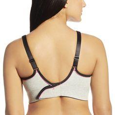 Royce Lingerie Women's 'Impact-Free' Grey Cotton Sports Bra (S925)