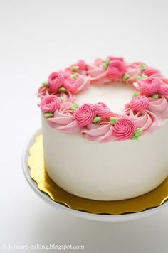 Floral Wreath Cake For Mother's Day floral wreath cake for mother's day - chiffon cake filled with whipped cream and fresh...