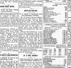 The Charlotte Democrat newspaper, Charlotte, NC, June 17, 1897 - Man killed by train in Harrisburg