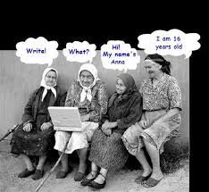 Image result for old ladies laughing