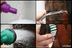 HOW to CLEAN BRICKS *Mold, mildew, or algae require different methods & chemicals than do rust stains or cement & mortar smears.