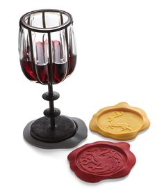 Game of Thrones Wax Seal Coasters- comes with Lannister, Targaryen, Stark, Greyjoy, Baratheon and Tyrell