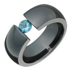 Titanium Blue, Titanium Rings, Diamond Wedding Bands, Wedding Rings, Wedding Stuff, Dream Wedding, Wedding Ideas, Givenchy, Tension Ring