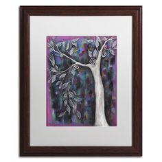 """Trademark Art 'Zofia' by Abril Andrade Framed Graphic Art Matte Color: White, Size: 20"""" H x 16"""" W x 0.5"""" D"""