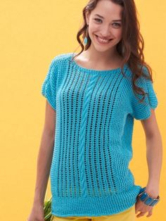 Breezy Dolman Top | Yarn | Free Knitting Patterns | Crochet Patterns | Yarnspirations