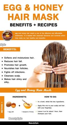 diy hair mask for growth african american best hair mask for damaged hair hair mask for dry hair deep conditioning Egg Hair Mask, Egg For Hair, Hair Mask For Damaged Hair, Hair Mask For Growth, Hair Growth Treatment, Diy Hair Treatment, Honey Hair Treatments, Coconut Hair Mask, Natural Beauty Products