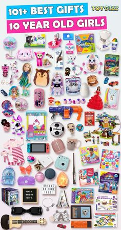 Best Gifts For 10 Year Old Girls 2019 – Toy Buzz Best Gifts For 10 Year Old Girls 2019 Gifts for 10 year old girls for birthdays, Christmas, or any occasion. See the best toys for 10 year old girls. Tons of gift ideas for 10 year olds sorted by category. Best Gifts For Girls, Tween Girl Gifts, Presents For Girls, Birthday Gifts For Best Friend, Birthday Gifts For Teens, Diy For Girls, Best Friend Gifts, Birthday Wishes, Diy Birthday