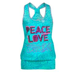 Peace Bubble Tank - Seafoam - Sale! - Zumbawear™ Zumba® Clothes and Accessories