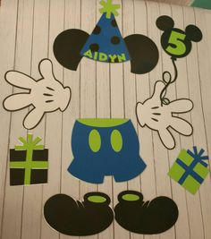 Birthday Mickey Cruise Stateroom Door Laminated by MBPandMore