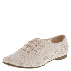 Lower East Side Women's Crochet Blossom Oxford -- You can get more details here : Oxford Shoes