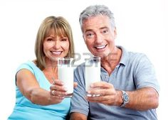 People with milk. photo
