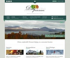 Derby Four Seasons Inn Website Design By Alpine Web Media Of Vermont Web Hosting Vermont Web Design Seo And Social Web Marketing Web Design Website Design