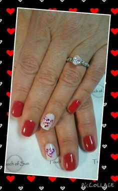 Valentine hearts with shellac